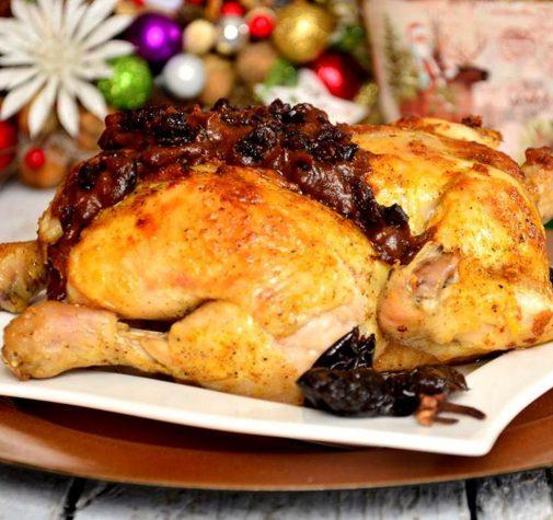 Kurczak w parmezanie z sosem śliwkowo-goździkowym